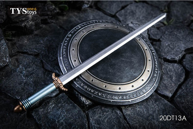 【TYSTOYS】20DT13A Sword and Shield Sliver 女性ドール用武器 1/6スケール 剣 & 盾