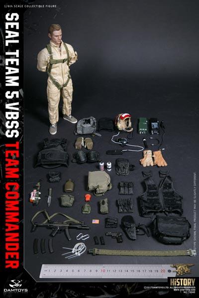 【DAM】78046 HISTORY SERIES 1/6 SEAL TEAM 5 VBSS TEAM COMMANDER アメリカ海軍特殊部隊 海上阻止・船舶臨検 コマンダー 1/6フィギュア