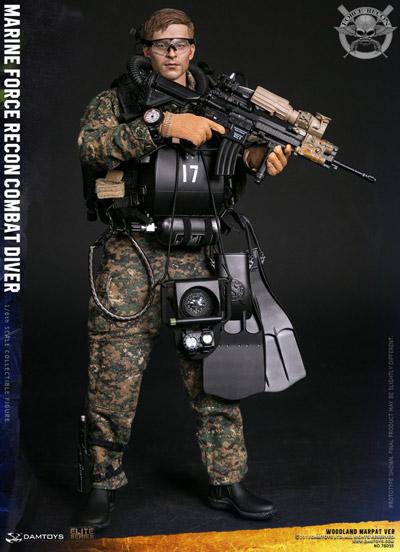 【DAM】No.78055 1/6 アメリカ海兵隊武装偵察部隊コンバットダイバー1/6フィギュア