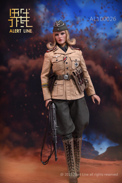 【AlertLine】AL100026 1/6 WW2 ドイツ軍 アフリカ軍団 女性兵士 1/6スケール女性フィギュア