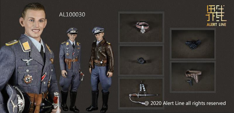【AlertLine】AL100030 WWII Luftwaffe Fighter Ace Pilot 1/6 WW2 ドイツ空軍 エースパイロット 1/6スケールフィギュア