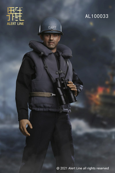 【AlertLine】AL100033 WWII U.S.NAVY Destroyer Commander 1/6 WW2 アメリカ海軍 駆逐艦 艦長 1/6スケールフィギュア