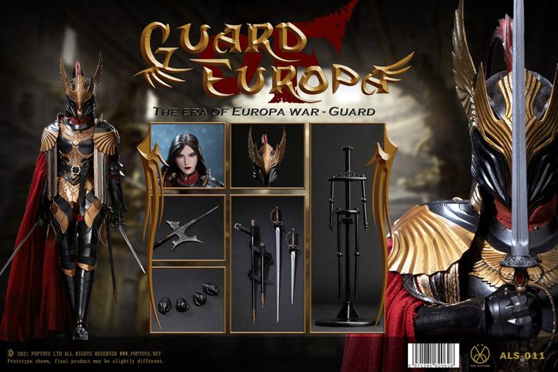 【POPtoys】ALS011 1/6 Armor Legend Series-Eagle Knight Guard Black armor Version