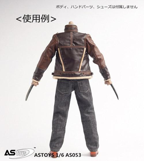 【ASTOYS】AS053 Conner leather suit 革ジャン&ジーンズパンツ&Tシャツ 1/6スケール 男性フィギュア用コスチューム