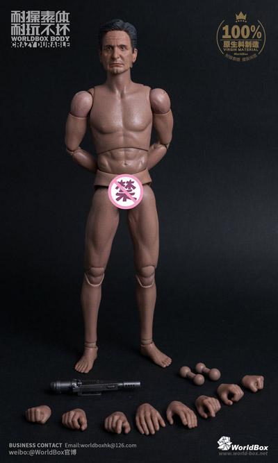 【WorldBox】AT-023 1/6 Durable body old Michael 初老白人男性 1/6スケール 男性ボディ素体 ヘッド付