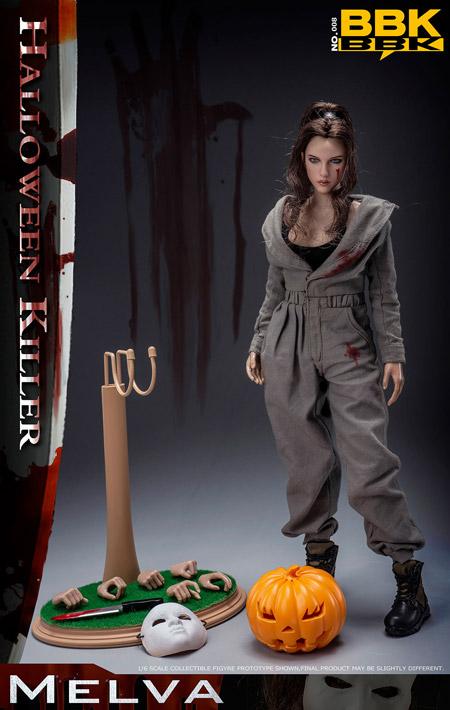 【bbk】BBK008 HALLOWEEN KILLER MELVA ハロウィーンキラー メルヴァ 1/6スケール女性ドールフィギュア