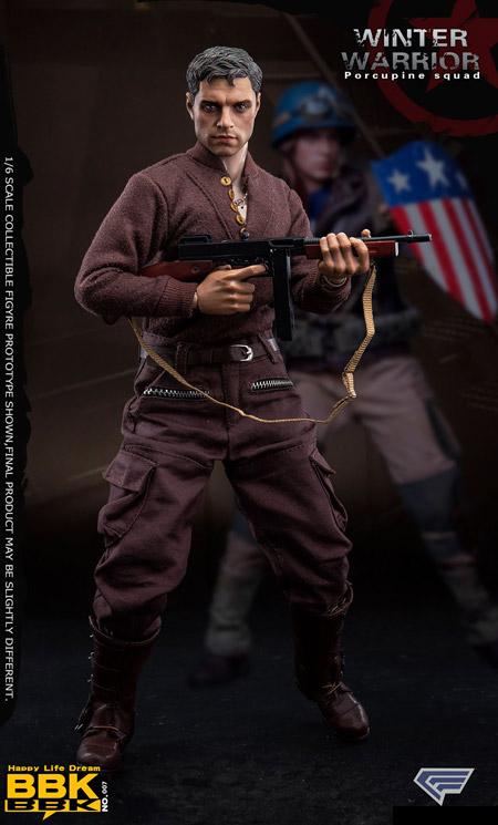 【bbk】BBK07 1/6 第二次大戦 アメリカ軍 ヤマアラシ小隊 ウィンターウォーリアー 1/6スケール男性フィギュア