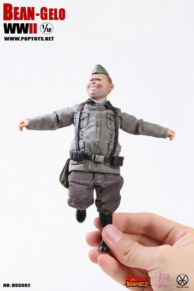【POPtoys】BGS002 1/12 Bean Gelo Series Fat guy--George WW2 ドイツ軍 ゲオルク 1/12スケールフィギュア
