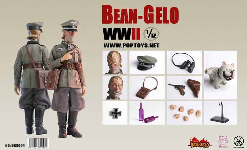 【POPtoys】BGS004 1/12 Bean Gelo Series Beautiful Westerwald Brand 美しきヴェスターヴァルト WW2 ドイツ軍 将校 ブラント