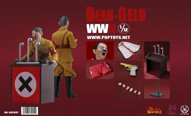【POPtoys】BGS007 1/12 Bean Gelo Series Devil King Lecture Version WW2 ドイツ軍 総統 演説版 1/12スケールフィギュア