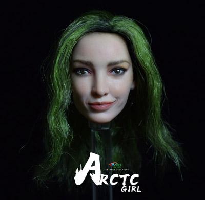 【BY-ART】BY-T6 1/6 beauty headsculpt Arctc girl 1/6スケール 植毛 女性ヘッド