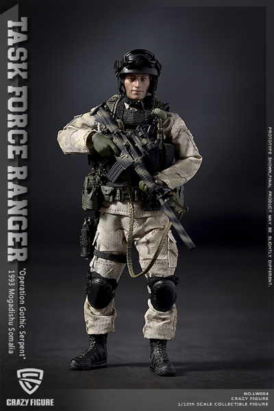 "【crazyfigure】LW004 1/12 US Delta Special Force-Precision Sagittarius Rangers Task Force 1993 ""Operation Gothic Snake"""