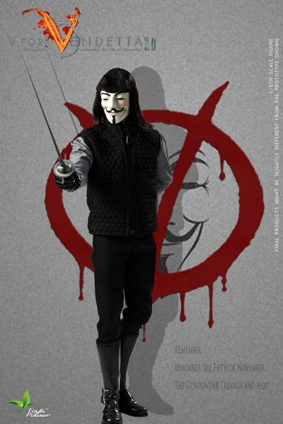 【ToysPower】CT013 V for Vendetta 2.0 V字仇殺隊 1/6スケールフィギュア