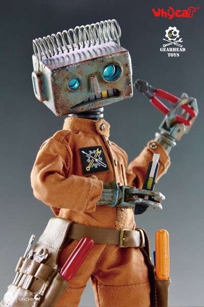 【Whycat&GEARHEADTOYS】1/6 ClumsyBot Series NO.1 Repairman little Curry 修理工 リトルロボット 1/6スケールフィギュア