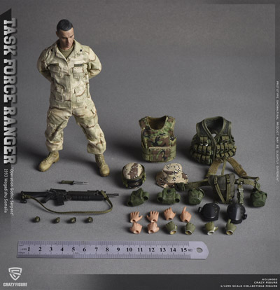 "【crazyfigure】LW003 1/12 US Military 75th Rangers Regiment - Grenadier - Rangers Task Force 1993 ""Operation Gothic Snake"""