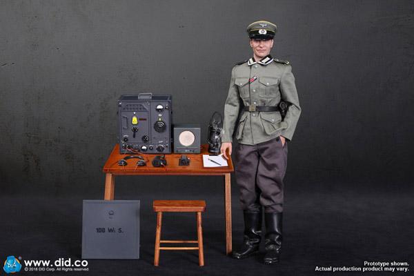 【DID】D80133 WW2 German Communication 3 WH Radio Operator Gerd ドイツ軍 通信部隊 ゲルト 1/6スケールフィギュア