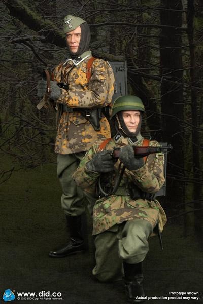 【DID】D80142&D80143set WW2 ドイツ軍 第20SS武装擲弾兵師団 (エストニア第1)通信兵  2種セット