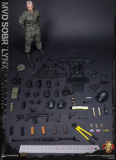 【DAM】No.78058 1/6 RUSSIAN SPETSNAZ MVD - SOBR LYNX 1/6フィギュア