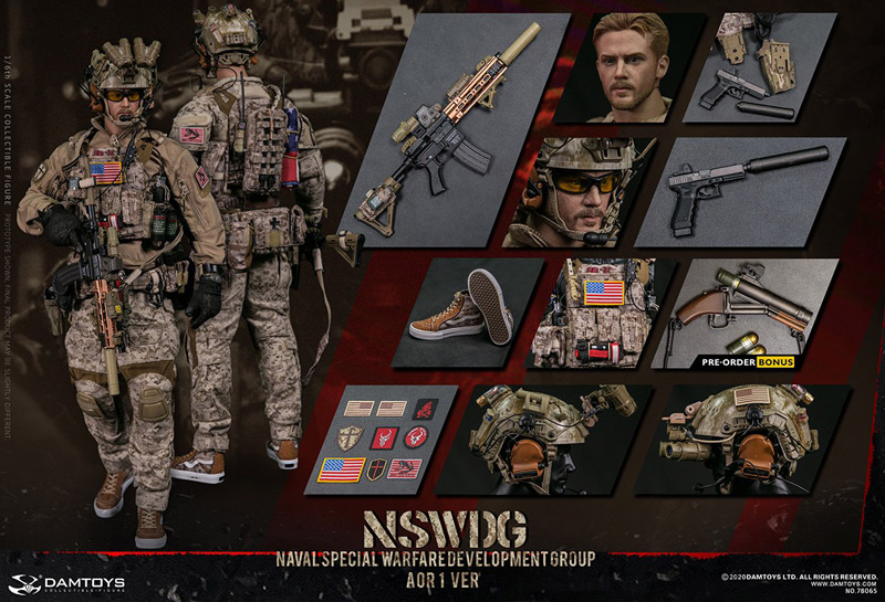 【DAM】No.78065 1/6 NSWDG NAVAL SPECIAL WARFARE DEVELOPMENT GROUP - AOR1 VER アメリカ海軍特殊戦開発グループ DEVGRU デブグル