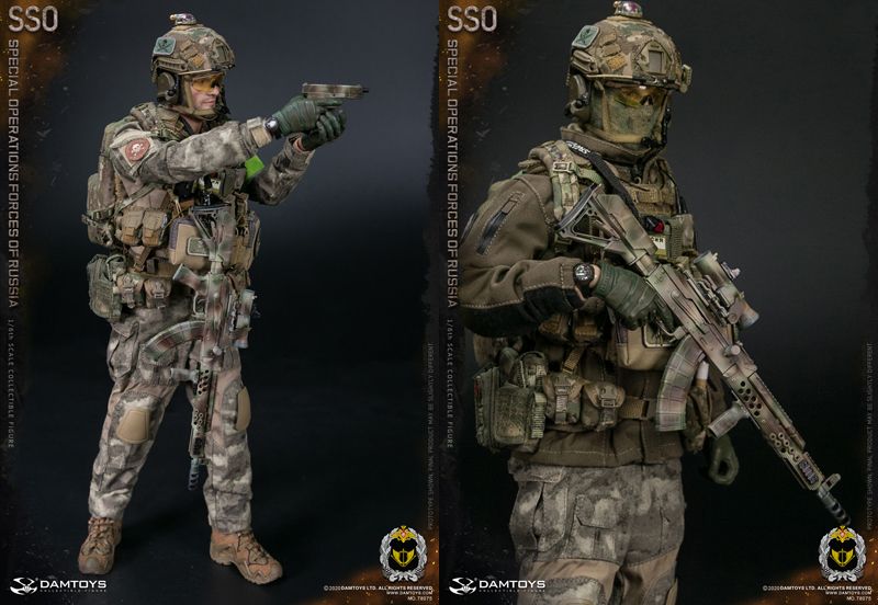 【DAM】No.78075 1/6 SPECIALOPERATIONS FORCES OF RUSSIA (SSO) ロシア連邦 特殊作戦軍 1/6スケールフィギュア