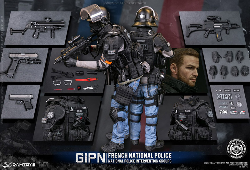 【DAM】No.78076 1/6 FRENCH NATIONAL POLICE INTERVENTION GROUPS GIPN IN MARSEILLE フランス国家警察介入部隊 マルセイユ