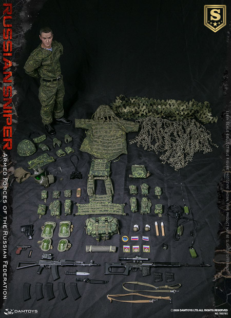 【DAM】No.78078S 1/6 Armed Forces of the Russian Federation - RUSSIAN SNIPER SPECIAL EDITION