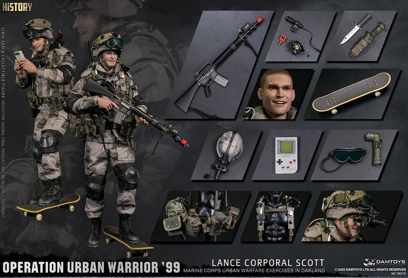 "【DAM】No.78079 1/6 Operation Urban Warrior '99 - Marine Corps urban warfare exercises in Oakland ""Lance corporal Scott"""
