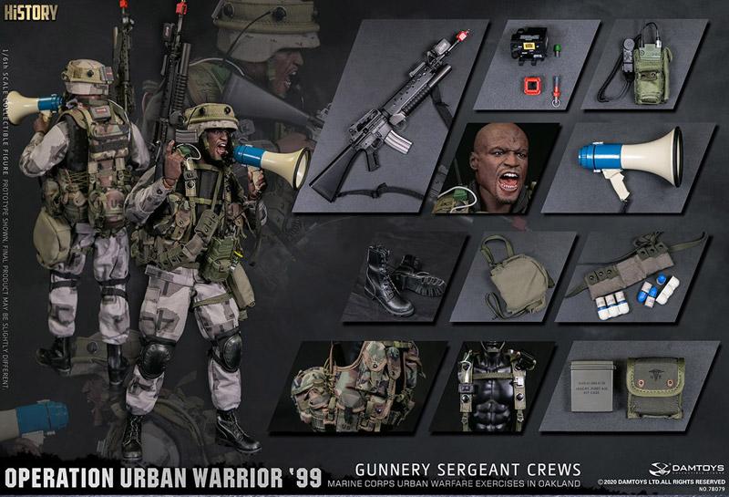 "【DAM】No.78080 1/6 Operation Urban Warrior '99 - Marine Corps urban warfare exercises in Oakland ""Gunnery sergeant Crews"""
