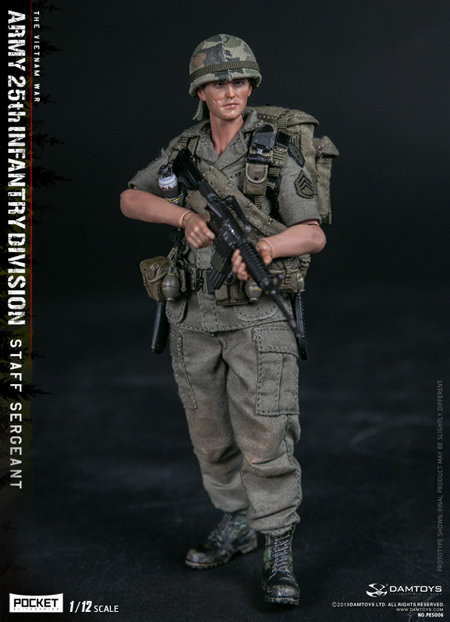 【DAM】PES006 1/12 ARMY 25th Infantry Division Private STAFF SERGEANT ベトナム戦争 アメリカ陸軍 第25歩兵師団 2等軍曹