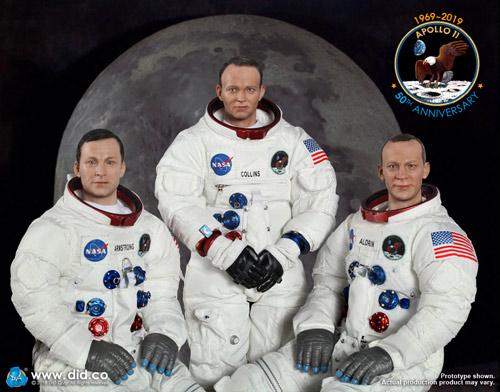【DID】NA001, NA002, NA003 アポロ11号 宇宙飛行士 アームストロング コリンズ オルドリン 3体セット 1/6スケールフィギュア