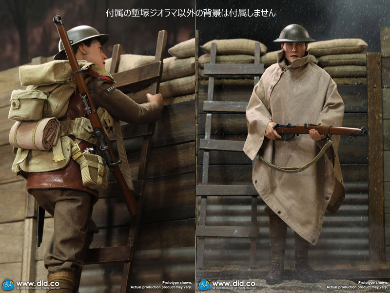 【DID】E60061&B11011set WW1 British Infantry Lance Corporal - William &Trench Diorama