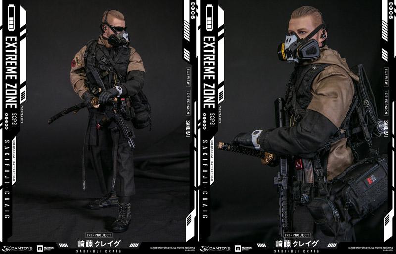 【DAM】EBS001 EXTREMEZONE Samurai SAKIFUJI CRAIG エクストリームゾーン サムライ 崎藤クレイグ 1/6スケール男性フィギュア