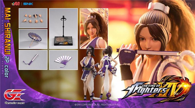 【Genesis Emen】KOF14-MS02 1/6 The King Of Fighters XIV Mai Shiranui 2P Color