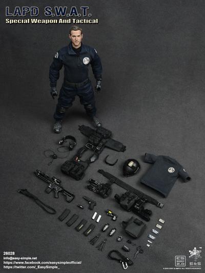 【EASY&SIMPLE】26028 LAPD S.W.A.T ロサンゼルス市警 スワット 1/6スケールフィギュア