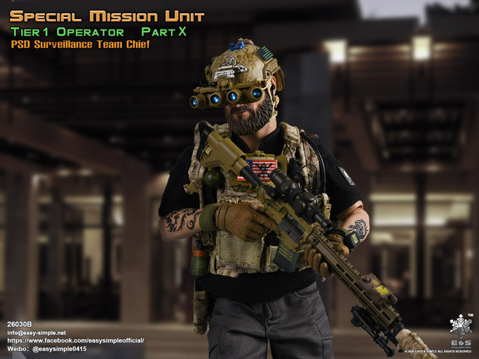 【EASY&SIMPLE】26030B Special Mission Unit Part X PSD Surveillance Team Chief (Year 2020) 1/6スケールミリタリーフィギュア