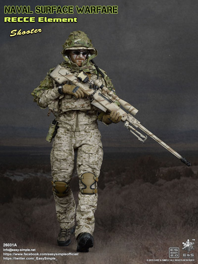 【EASY&SIMPLE】26031A NAVAL SURFACE WARFARE RECCE Element Shooter 1/6スケールフィギュア