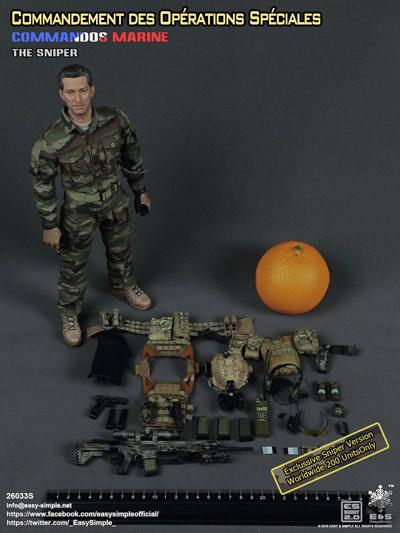 【EASY&SIMPLE】26033S COS Prt II-The Sniper フランス軍 特殊作戦司令部 スナイパー 1/6スケールフィギュア