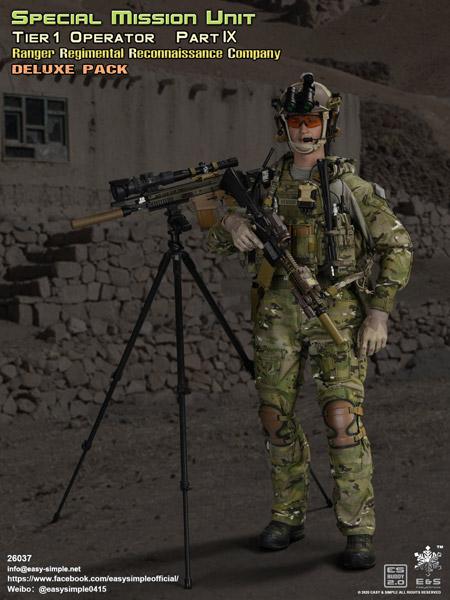 【EASY&SIMPLE】26037 Tier 1 Operator Part IX RPC Deluxe Pack  1/6スケールミリタリーフィギュア