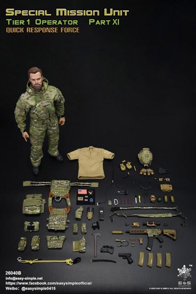 【EASY&SIMPLE】26040B SMU Tier 1 Operator Part XI Quick Response Force 1/6スケールミリタリーフィギュア