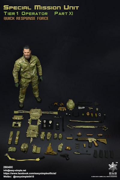 【EASY&SIMPLE】26040C SMU Tier 1 Operator Part XI Quick Response Force 1/6スケールミリタリーフィギュア