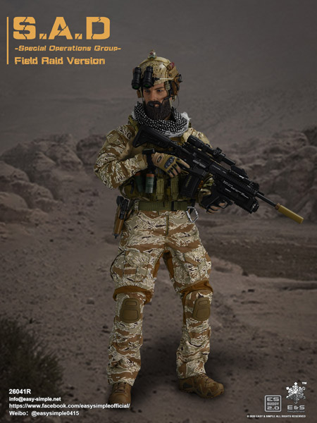 【EASY&SIMPLE】26041R S.A.D Special Operation Group Field Raid Version 1/6スケールミリタリーフィギュア