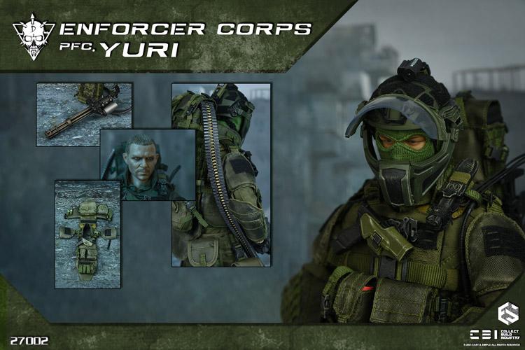 【EASY&SIMPLE x CBI】27002 Enforcer Corps PFC Yuri エンフォーサー・コープス PFC ユーリ 1/6スケール男性フィギュア
