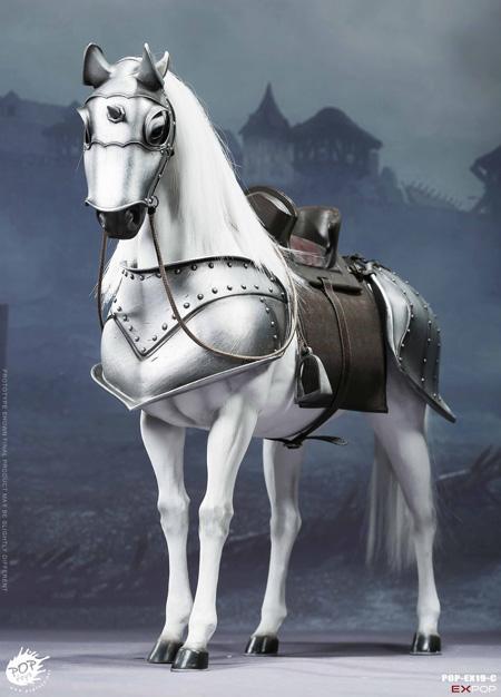 【POPtoys】EX019C 1/6 Saint Knight-War horse 聖騎士 ウォーホース 軍馬 白馬 1/6スケール馬フィギュア