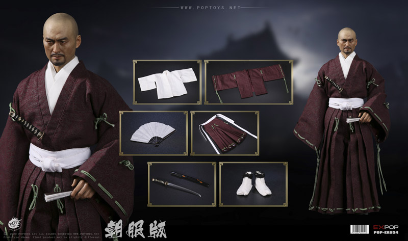 【POPtoys】EX034 1/6 Benevolent Samurai Robes version 武士 侍 朝服版 1/6スケール男性フィギュア