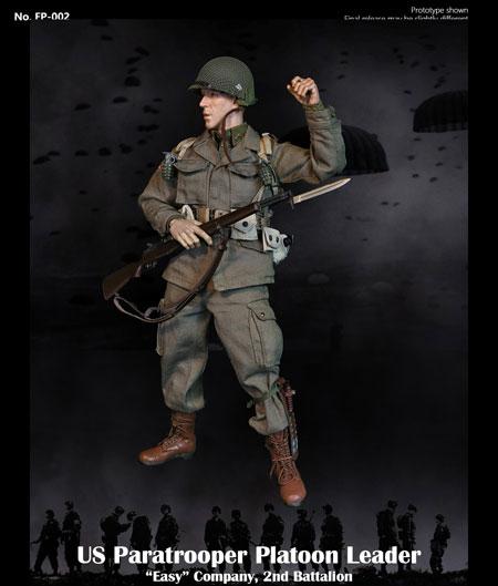 "【Facepoolfigure】FP002A 1/6 WW2 US Paratrooper Platoon Leader - ""Easy""Company regular version WW2 アメリカ陸軍 第101空挺師団"