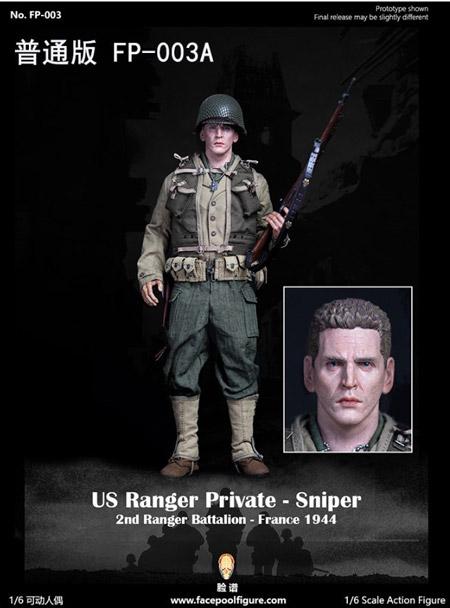 【Facepoolfigure】FP003A 1/6 WW2 US Ranger private sniper 2nd Ranger Battalion France 1944
