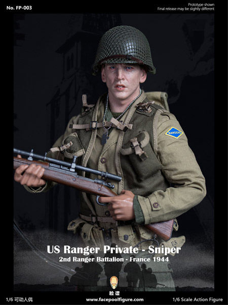 【Facepoolfigure】FP003B 1/6 WW2 US Ranger private sniper 2nd Ranger Battalion France 1944