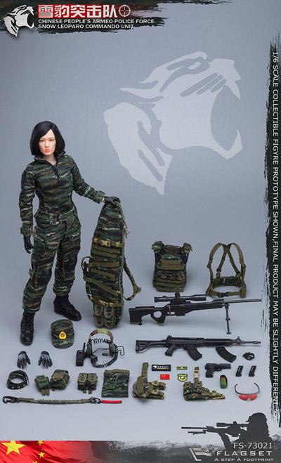 【FLAGSET】FS-73021 中国人民武装警察部隊特警部隊 雪豹突撃隊 女性スナイパー 1/6スケールミリタリーフィギュア