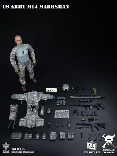 【General's Armoury】GA1005 US ARMY MK14 MARKSMAN アメリカ陸軍 マークスマン 1/6スケールミリタリーフィギュア