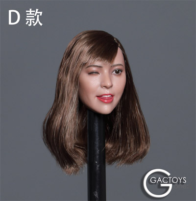 【GACTOYS】GC036 women's head carving 1/6スケール 植毛 女性ヘッド